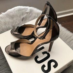 Schutz Ankle Strap Open Toe Heel Sandals
